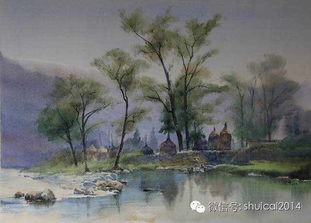 贵州风景水彩写生
